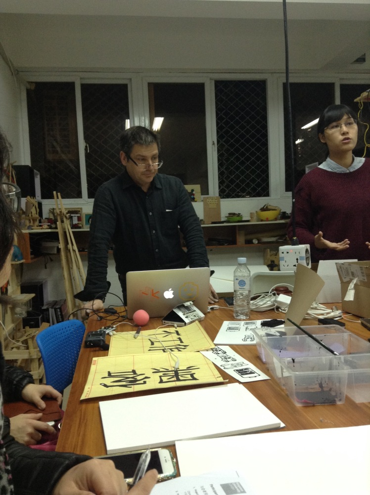 Falmouth researcher at litchee lab makerspace in shenzhen
